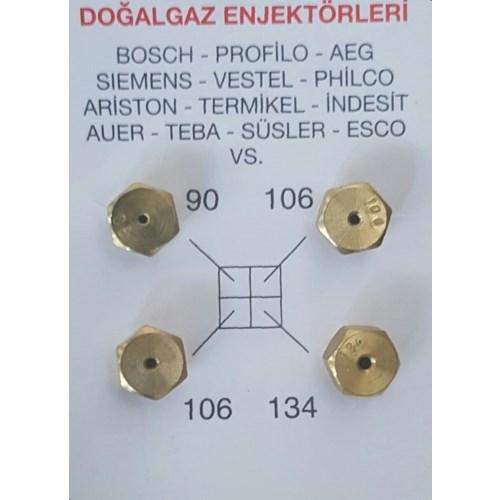 Doğalgaz Enjektör Ocak Memesi Takımı Vestel, Siemens, Profilo
