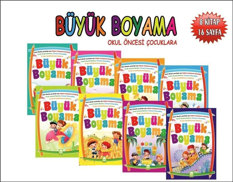 Ema Yayinlari Okul Oncesi Buyuk Boyama Kitap Seti 8 Kitap Fiyati